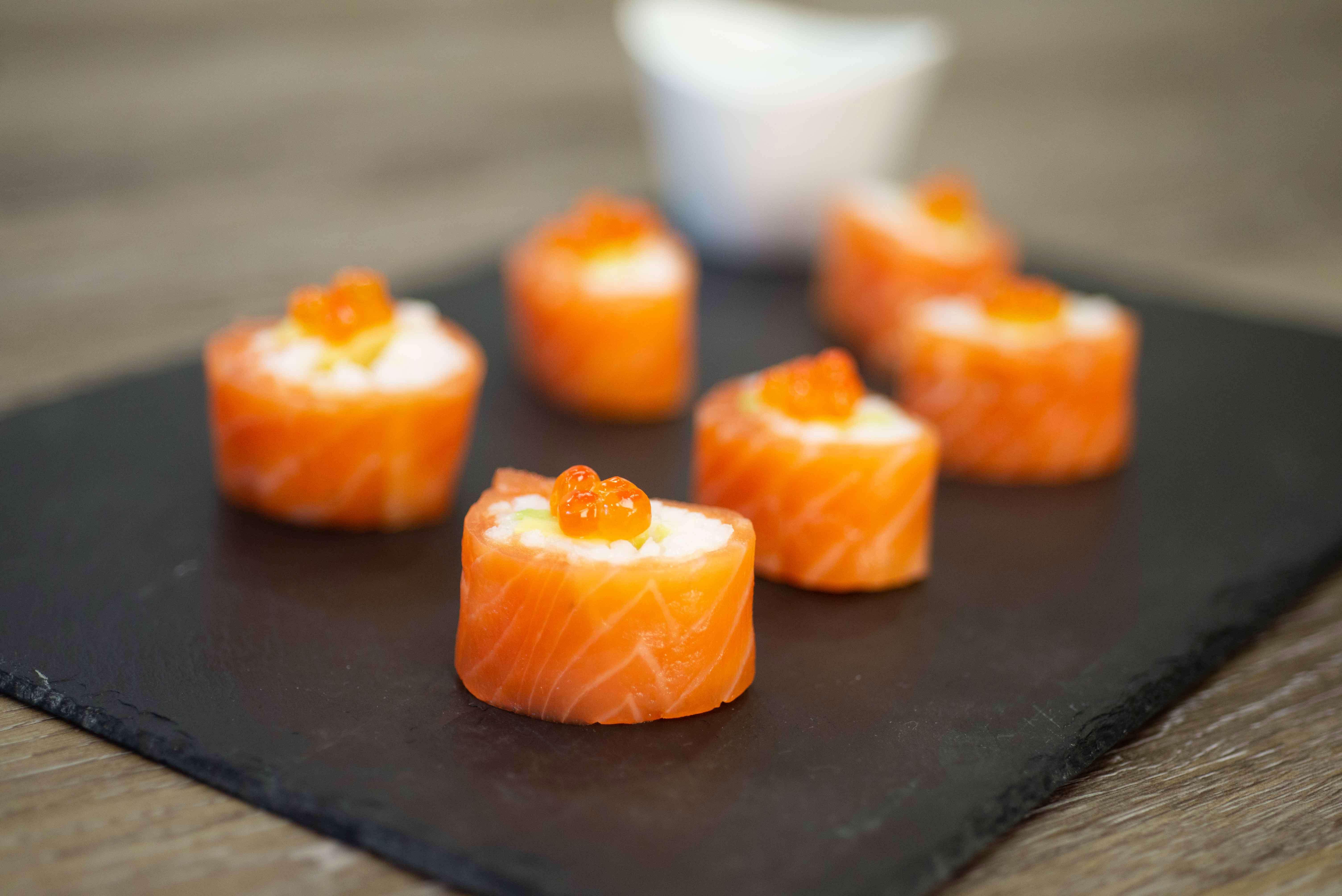 Petits makis de saumon