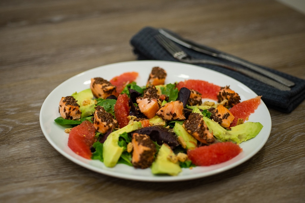 Saumon en salade