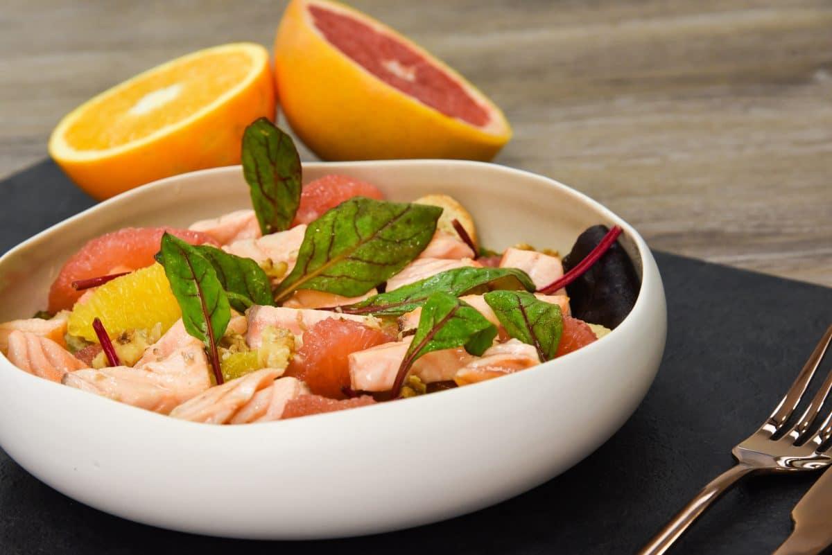 Salade saumon pamplemousse