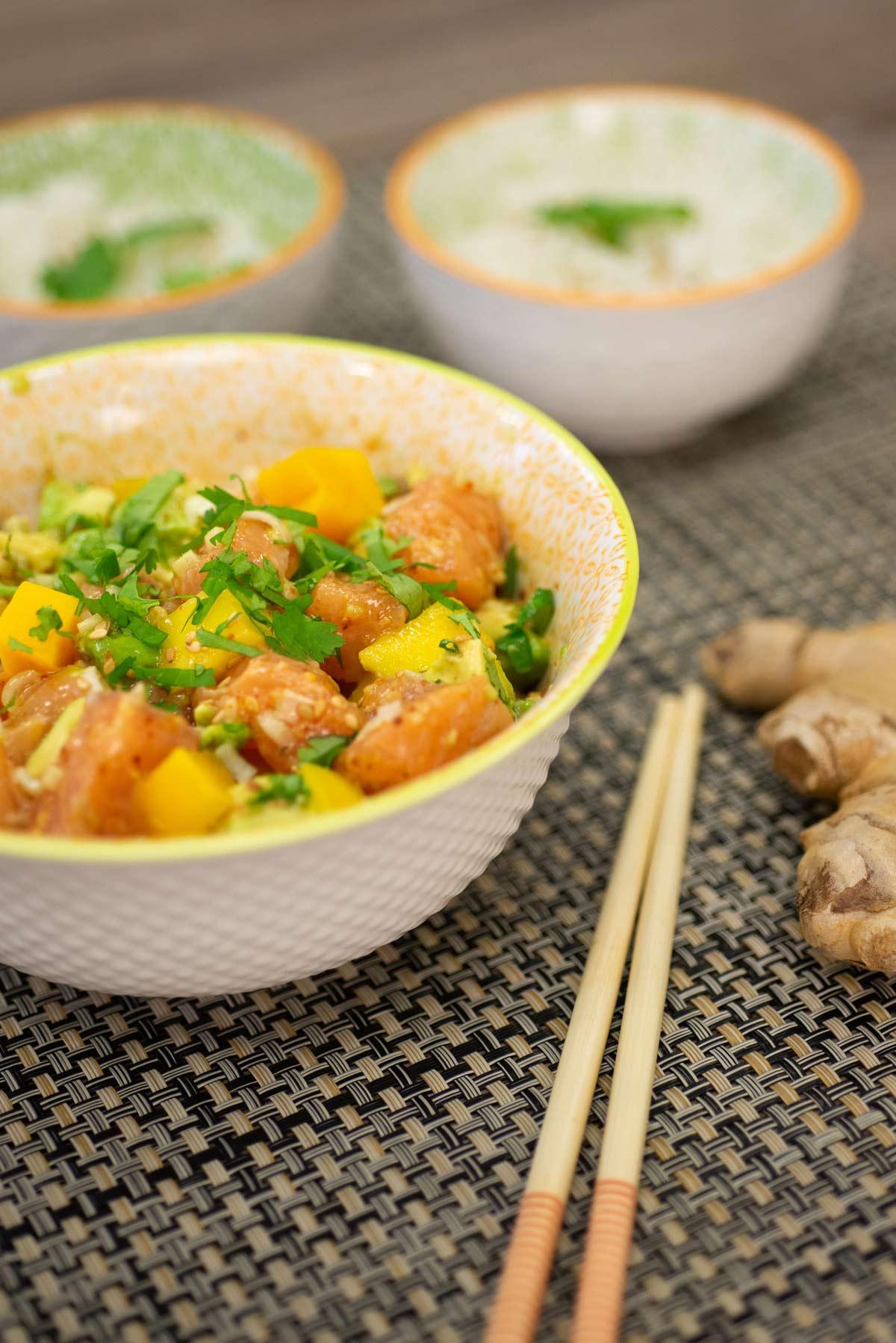 Salade de saumon agrumes