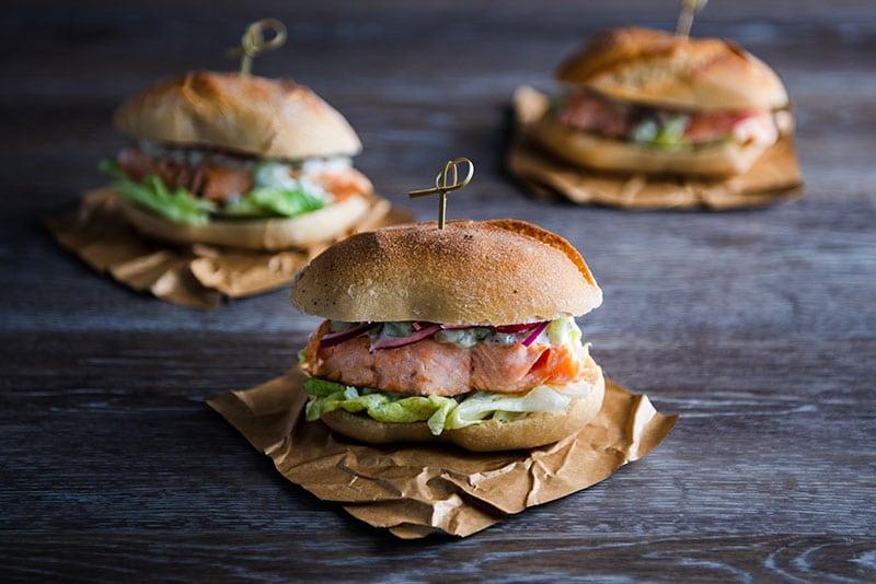 recette burger de saumon