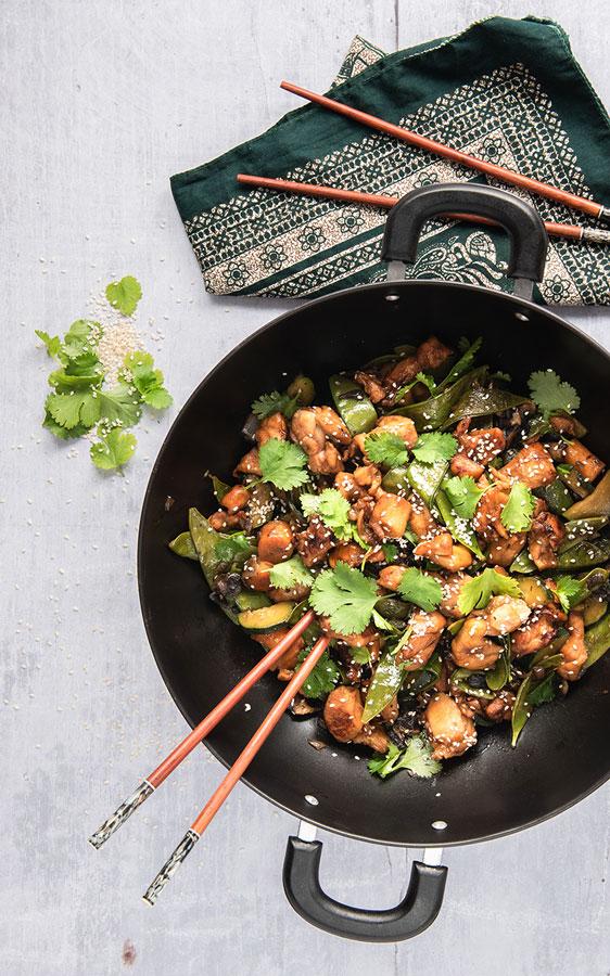 Lapin au wok par les foodiens