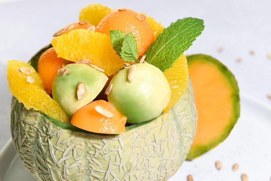 Salade de melon par les foodiens